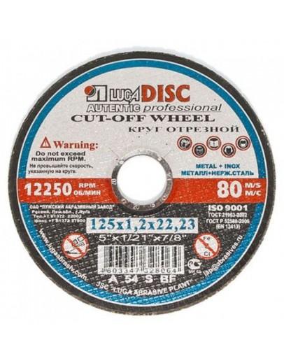 Disc abraziv pentru debitat metal si inox LUGADISC AUT125X1,2X22,2