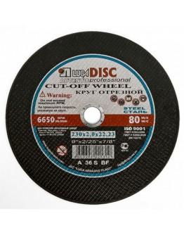 Disc abraziv pentru taiat metal si inox Lugadisc Autentic 230X2,0X22,2