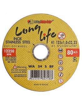 Disc abraziv pentru debitat inox Lugadisc Autentic 125X1,0X22,2 (Long Life)