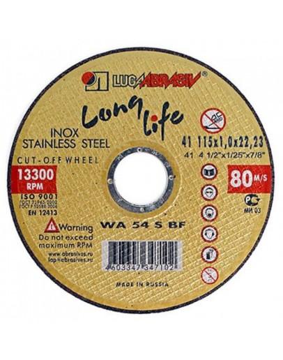 Disc abraziv pentru taiat inox Lugadisc Autentic 115X1,0X22,2 (Long Life)