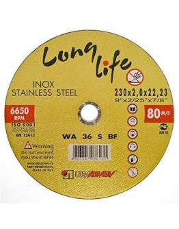 Disc abraziv pentru taiat inox Lugadisc Autentic 230X2,0X22,2 (Long Life)