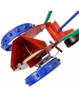 Semanatoare manuala bulbi pe un rand, sistem disc cu gauri
