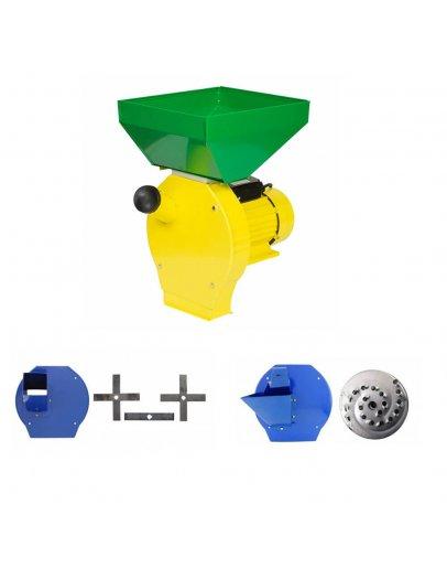 Moara cu ciocanele 4 in 1 PROCRAFT ME3500, Cuva Mare, 3500W, 200kg/h, 3000 rpm