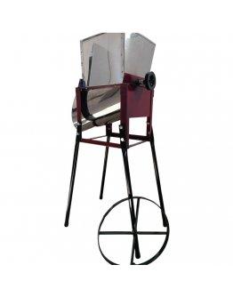 Tocator razatoare manuala din inox pentru radacinoase, fructe si legume cu coarba si fulie pentru motorizare