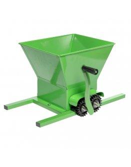 Zdrobitor manual de fructe, fabricat in Bulgaria, cuva 25 L, capacitate 350 kg/h, Micul Fermier