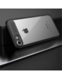 Carcasa protectie spate din gel TPU si acrilic pentru iPhone 8/iPhone 7, neagra