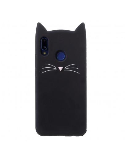 Carcasa protectie spate pisica pentru Huawei P20 Lite, neagra