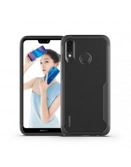 Carcasa protectie spate din plastic si gel TPU pentru Huawei P20 Lite, neagra