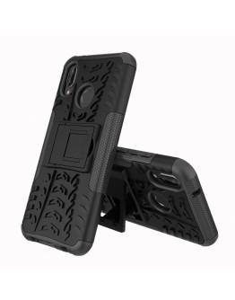 Carcasa protectie spate anti-alunecare pentru Huawei P20 Lite, neagra