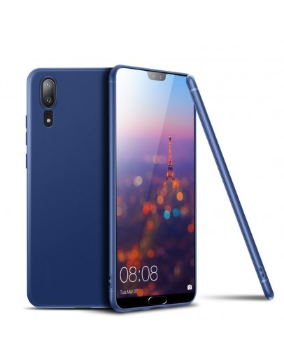 Carcasa protectie spate din gel TPU pentru Huawei P20, albastra