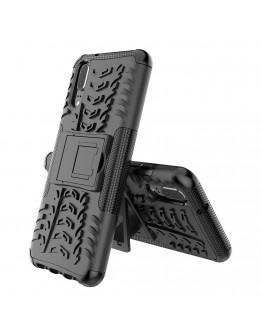 Carcasa protectie spate anti-alunecare pentru Huawei P20, neagra