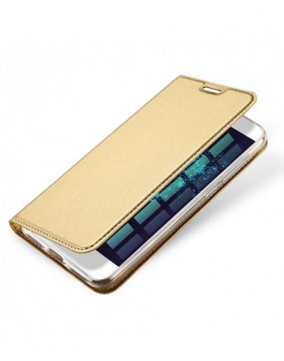Husa de protectie din plastic si piele ecologica DUX DUCIS pentru Huawei P9, gold