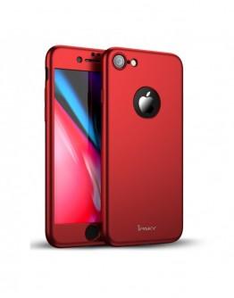Husa protectie completa IPAKY pentru  iPhone 8, rosie