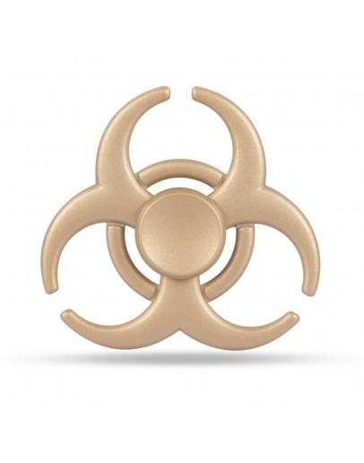 "Jucarie antistres Fidget Spinner cu model ""Toxic"", gold"