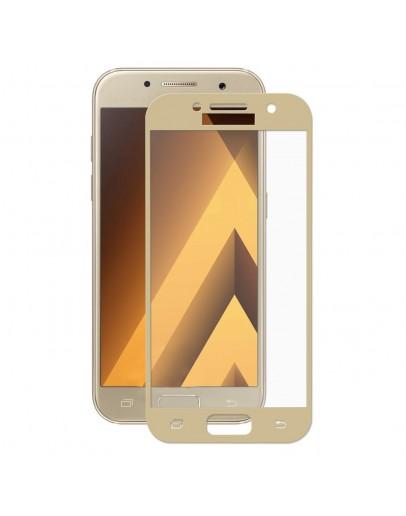 Sticla securizata protectie ecran 0,26 mm pentru Samsung Galaxy A3 (2017), gold