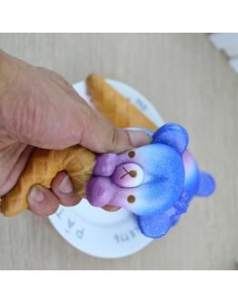 Pachet squishy hamburger, dintisor si inghetata albastra