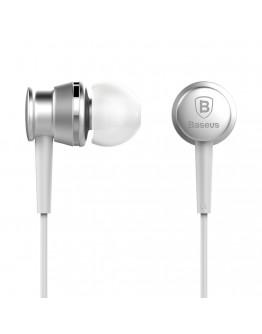 Casti in-ear Baseus Lark Series cu control pe fir si microfon, silver