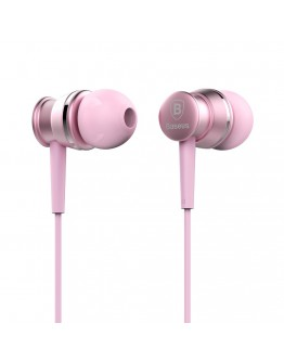 Casti in-ear Baseus Lark Series cu control pe fir si microfon, roz