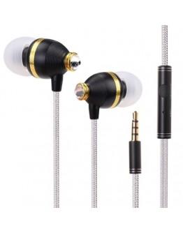 Casti in-ear BENWIS cu microfon si cristale Swarovski - negre