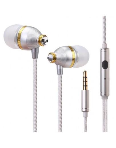 Casti in-ear BENWIS cu microfon si cristale Swarovski - silver