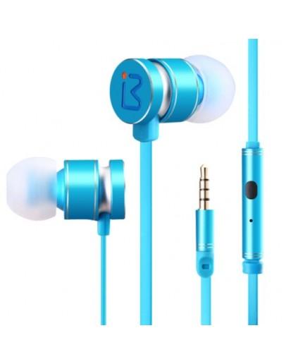 Casti in-ear BENWIS EPM-200 cu microfon si control pe fir - albastru