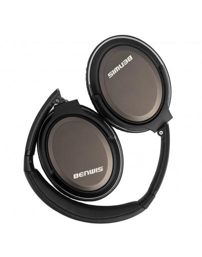 Casti over-ear BENWIS H600 cu fir - negru