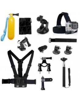 Kit 13 in 1 accesorii pentru camere sport
