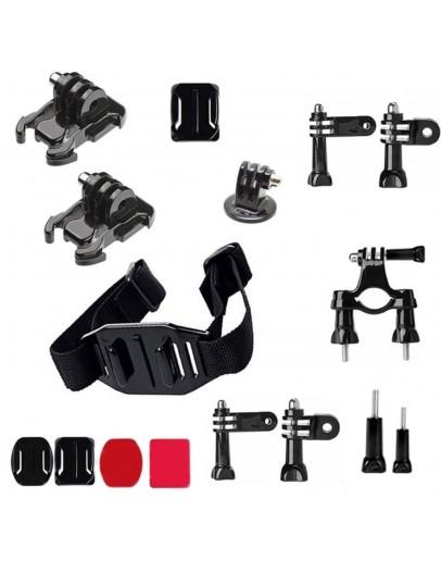 Kit 16 in 1 accesorii pentru camere sport