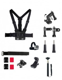 Kit 15 in 1 accesorii pentru camere sport
