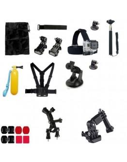 Kit 21 in 1 accesorii pentru camere sport