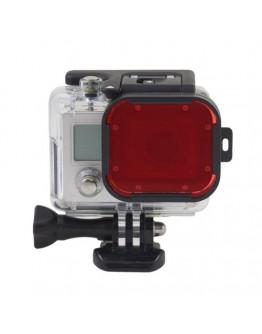 Filtru pentru camere sport GoPro Hero 3+ - rosu