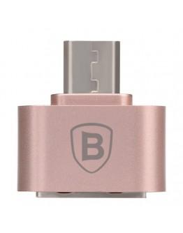 Micro OTG Adaptor 2.1A BASEUS - rose gold
