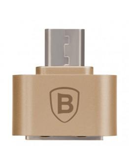 Micro OTG Adaptor 2.1A BASEUS - gold