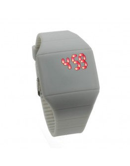 Ceas digital din silicon cu led - gri