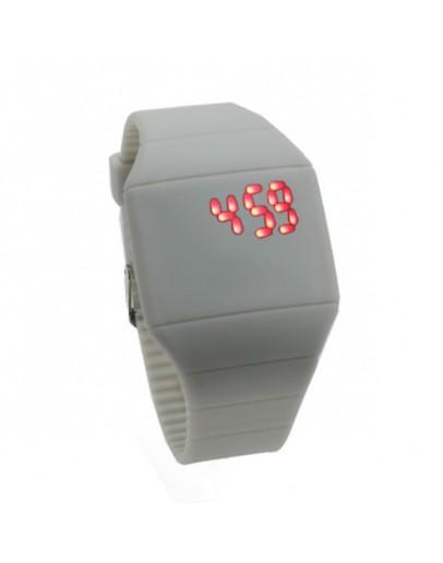 Ceas digital din silicon cu led - gri