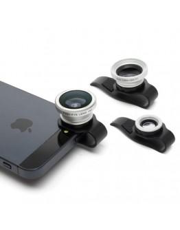 Set 3 lentile foto pentru telefon sau tableta