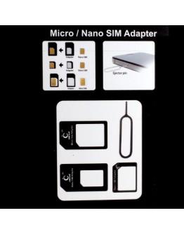 Set 4 in 1 adaptoare pentru cartele sim