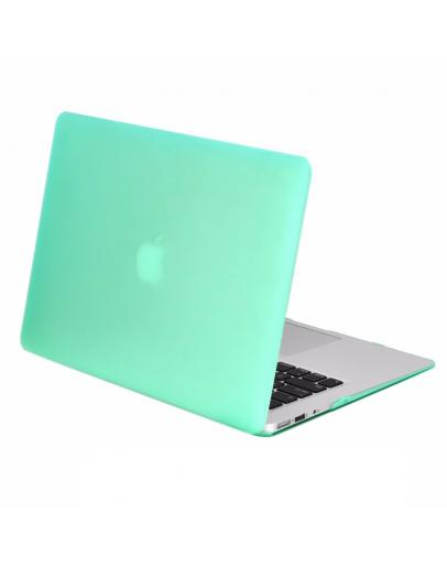 "Carcasa protectie slim din plastic pentru MacBook Air 13.3"", verde deschis"