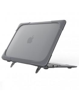 Carcasa protectie spate cu suport pentru MacBook Air 13.3 inch, gri