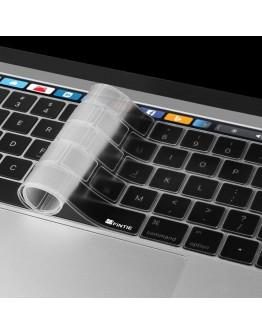 """Pachet carcasa de protectie si folie tastatura pentru Macbook Pro 13,3"""" 2016 Touch Bar, gri"""
