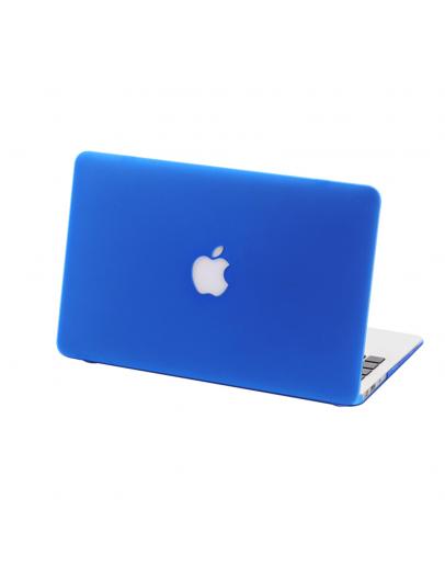 "Carcasa protectie slim din plastic cu decupaj pentru MacBook Retina 12"", albastru inchis"