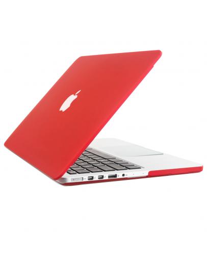 "Carcasa protectie slim din plastic pentru MacBook Pro Retina 13.3"", rosie"