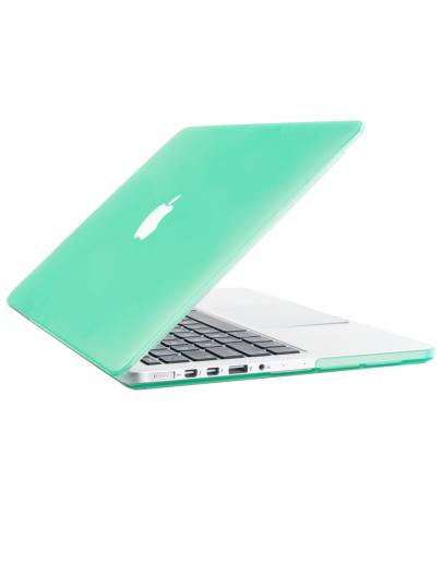 "Carcasa protectie slim din plastic pentru MacBook Pro Retina 13.3"", verde deschis"