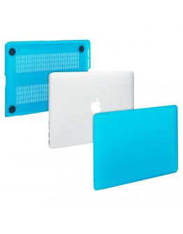 """Carcasa protectie slim din plastic pentru MacBook Pro Retina 13.3"""", albastru deschis"""