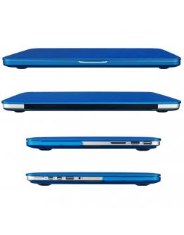 "Carcasa protectie slim din plastic pentru MacBook Pro Retina 15.4"", albastru inchis"