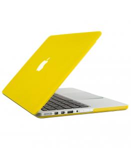 "Carcasa protectie slim din plastic pentru MacBook Pro Retina 15.4"",galbena"