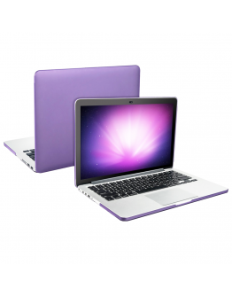 "Carcasa protectie slim din plastic pentru MacBook Pro Retina 15.4"", mov"