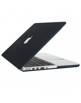 """Carcasa protectie slim din plastic pentru MacBook Pro Retina 15.4"""", neagra"""