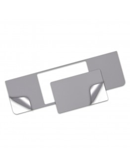 Folie protectie palm rest si trackpad aspect aluminiu pentru New MacBook Air 13.3'' Retina (A1932), space grey