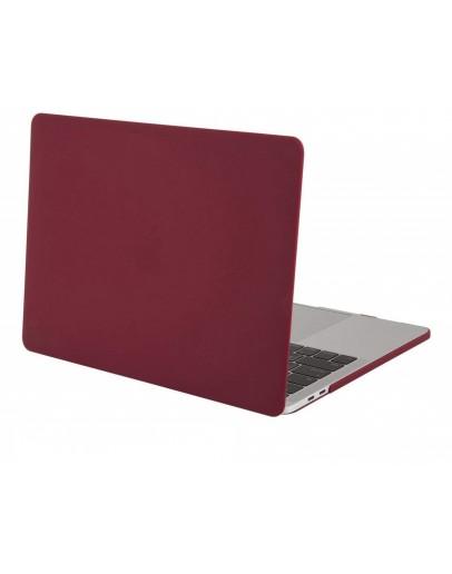 """Carcasa protectie slim din plastic pentru MacBook Pro  13.3"""" 2016 / Touch Bar, visiniu"""
